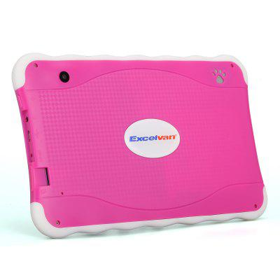 "Excelvan 711 7"" 1024*600 Android 4.4 Allwinner A33 Duad Core 512MB+8GB Dual Camera WIFI External 3G Tablet PC Pink EU"