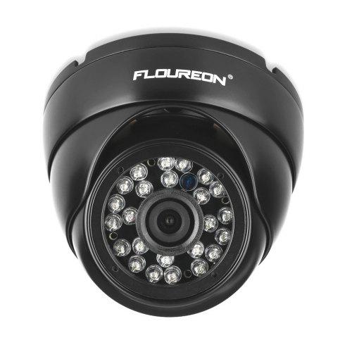 FLOUREON 1080P 2.0MP 3000TVL PAL Vandalproof CCTV DVR Waterproof Security AHD Dome DVR Camera Night Vision