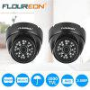 FLOUREON 1080P 2.0MP 3000TVL PAL Vandalproof CCTV DVR Waterproof Security AHD Dome DVR Camera Night Vision - BLACK