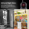 FLOUREON 720P Wifi 1.0 Megapixel Wireless  CCTV Security IP Camera UK - BLACK WHITE