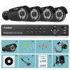 FLOUREON 1080P AHD DVR Outdoor 3000TVL Camera Security Kit - BLACK