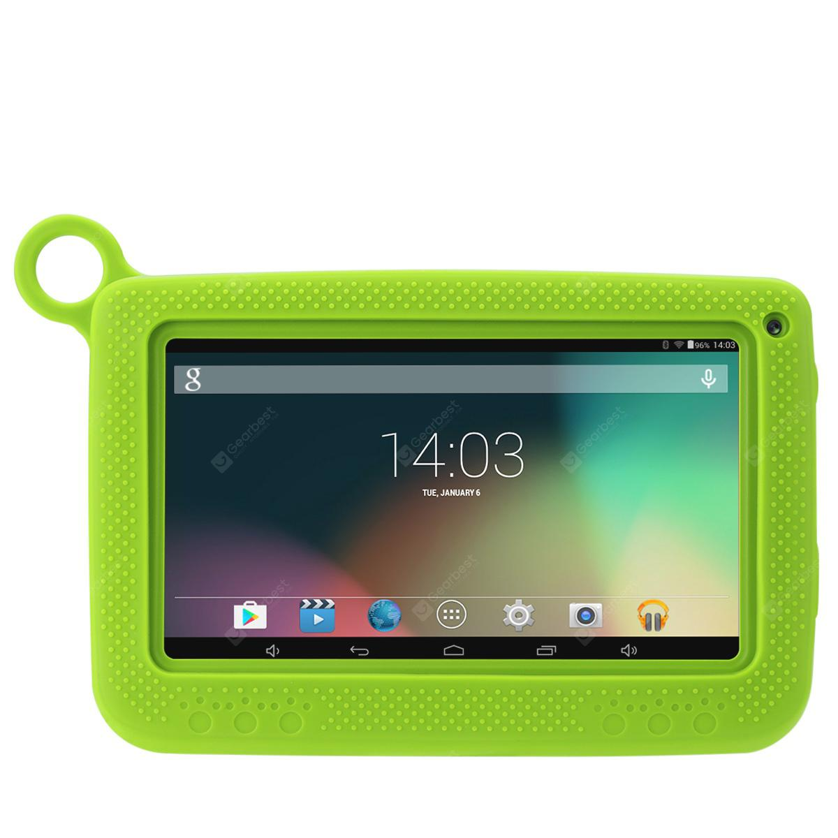 "Excelvan Q758 7"" 1024*600 Android 4.4 Allwinner A33 512MB+8GB Dual Camera WIFI Support External 3G Tablet PC -  Green"