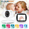 FLOUREON 3.5'' Digital Wireless Baby Monitor LCD Video Nanny Security Camera Temperature Display 2 Way Talk Night Vision Lullabies Radio - BLACK WHITE
