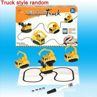 2017 Magic Follow Any Drawn Line Pen Inductive Toy Car Truck Bus Tank Model Gift ( One Size )