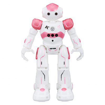 Virhuck R2 RC Smart Robot Toys Dancing Singing Walking Toy Gesture Senses for Entertainment Chirstmas Gifts Pink - PINK