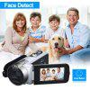 Floureon 1080P FULL HD Portable Digital Video Camera 2.7 TFT LCD 24MP 16x Zoom Camcorder DV  AV Output Night Light Sliver UK - SILVER