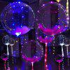 Lampwin 5pcs 18-inch Clear Foil Helium Bobo Balloons, String Light Creative Balloon for Birthday Wedding Christmas Party Decorative - WHITE