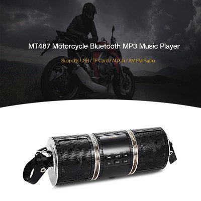 Excelvan Motorcycle Motorbike Bluetooth MP3 Water-resistant LED Display TF card Stereo MP3 Music Player (Black)