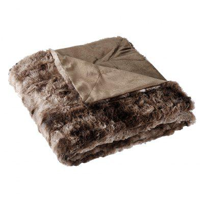 LANGRIA Faux Fur Fleece Throw Fluffy Cozy Soft Dyed Blanket Warm Breathable Bed Couch Throw Lightweight Easy Care for Winter, 50quot; x 60quot;, Brown zhh warm soft fleece strip blankets double layer thick plush throw on sofa bed plane plaids solid bedspreads home textile 1pc