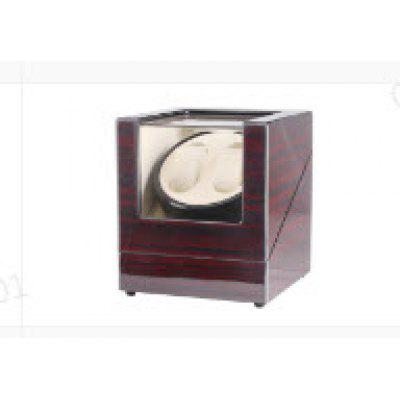 Luxury Wood Rotation Motor Automatic 2+0 Watch Winder Box Display Double Watch Gift Storage Case US