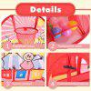 Adorable Play Tent Pop Up Foldable and Portable Sports Tent with Basketball Hoop and Target Stick Balls Ocean Balls Indoor Outdoor Pitching Scores Game - COLORFUL