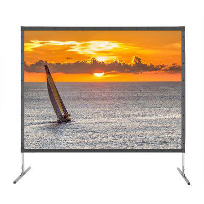 Фото - Excelvan 4K Ultra HD Movie Theater Fast-Fold Projector Screen 120 inch 4:3 with Stand Legs and Carry Bag For Front Projection concise pu leather and chain design crossbody bag for women