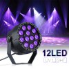 Lampwin UV Lights 12W 12 LEDs Black Light Controlled by DMX for Halloween Christmas Disco Party Wall Washer - NOIR
