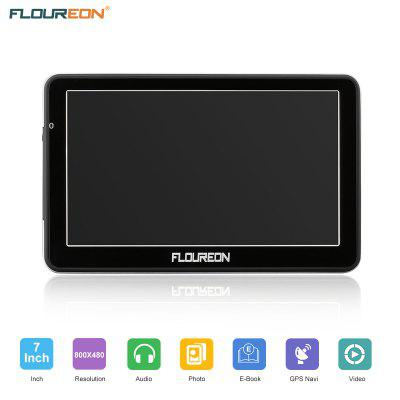 FLOUREON 7 Inch Capacitive LCD Touch Screen Truck&Car GPS Navigation SAT NAV Navigator Lifetime Map Updates 8GB Black  US