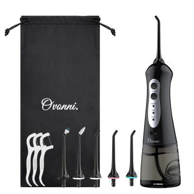 Ovonni Oral Irrigator Water Flosser Cordless USB Rechargeable Dental Care with 3 Modes and 200ML Water Tank IPX7 Waterproof Teeth Cleaner with 4 Jet Tips Replacement and Storage Bag
