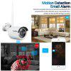 FLOUREON 4CH Wireless CCTV 1080P DVR Kit 2pcs Outdoor Wifi WLAN 1.0MP 720P Camera Security Video Recorder NVR System EU - WHITE