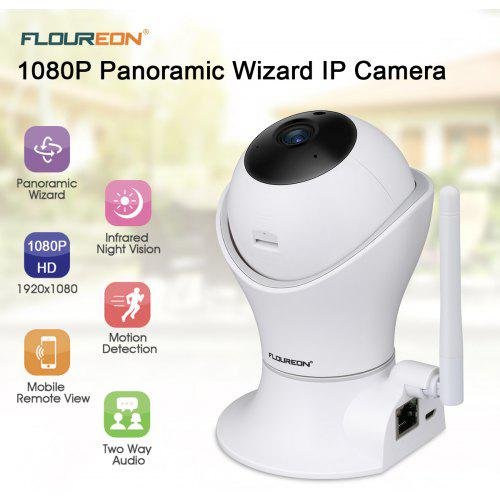 FLOUREON 1080P H.264 Wifi 2.0 Megapixel Wireless CCTV Security IP Camera TF Slot EU