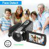 Floureon 1080P FULL HD Portable Digital Video Camera 3.0 TFT LCD 24MP 16x Zoom Camcorder DV AV HDMI Output With Remote Control Black US - BLACK