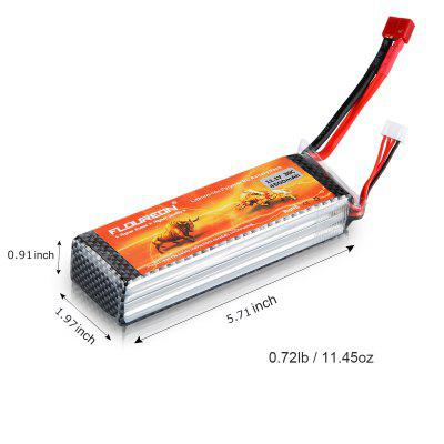 Floureon 3S 11.1V 4500mAh 30C with TPlug LiPo Battery Pack for RC Evader BX Car, RC Truck, RC Truggy RC Airplane UAV Drone FPV