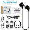 BE-1002 Wireless Stereo Sport Bluetooth Headphone for iPhone X/8/8 Plus Samsung - BLACK