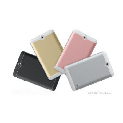 """Excelvan A721 7""""1024*600 MTK8321 Quad core Android 7.0 1GB+8GB Dual Cam Dual SIM 2/3G WIFI Tablet PC--Gold Image"""