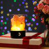 Natural Salt Lamp Dimmable 7-Color Light Touch Control Air Purifier - BLACK