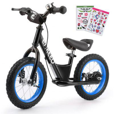 ENKEEO 14'' Sport Balance Bike No Pedal Control Walking Bicycle Transitional Cycling Training with Adjustable Seat and Upholstered Handlebars for Kids Toddlers under 4'1''