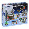 JJRC 741PCS Christmas Brick Blocks Kit with an Assembly Tool Christmas Surprise Santa Claus and Reindeer Christmas Decoration - COLORFUL