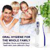 USB Rechargeable Water Flosser Cordless Oral Irrigator With 3 Cleaning Modes, 2 Interchangeable 360-Degree Rotating Water Nozzles for Eliminating Bacteria and Food Debris, Blue/White - AZUL