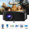 Excelvan LED - 4018 Portable 1200 Lumens Projector - BLACK