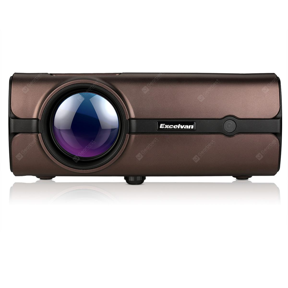 Excelvan BL - 46 1080P Multimedia LCD Projector - BROWN EU