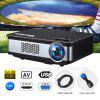 Excelvan Z720 1280*768 Native Resolution 3300 Lumens Z720 Multimedia Projector Support 1080P With HDMI VGA USB*2 AV Interfaces For Home Cinema Game Outdoor Movie - BLACK