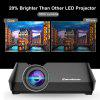 Excelvan GT - S8 800 x 480 Portable Multimedia LCD Projector with HDMI USB VGA AV TF Interfaces Support 1080P for Home Cinema Theater Indoor Outdoor Movie Night Entertainment - BLACK