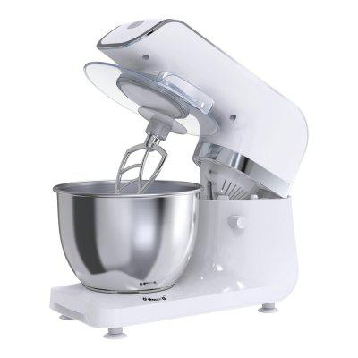 Mliter 800W Electric Food Stand Mixer with 4.0L Bowl, Dough Hook, Whisk, Dough Hook, Splash Guard, Digital Control Panel, 6-Speed, Time Setting, Black