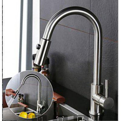 Rackaphile Single-Handle Pull-Down Sprayer Kitchen Faucet Tap with 360 Degree Swivel Brass Spout, One-Hole Installation, Hot & Cold Water Lead-Free Sink Faucet, Chrome