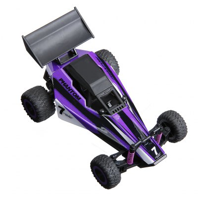 Virhuck 1/32 Scale Rechargeable Off Road Remote Control Car Seria RC Cars ze stożkami i rampą dla High Speed ​​Dune Buggy RC Car-Fioletowy