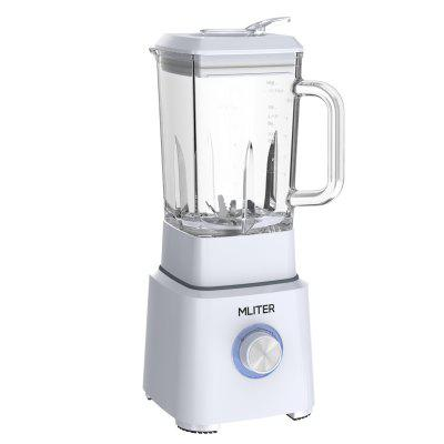 Mliter Multi-function BPA Free Glass Jug Blender, Juicer, Powerful Smoothie Maker, Nutri Extractor and Ice Crusher, 2 Speed With Pulse Function 1.6L Glass Jar and 6-Leaf Stainless Steel Blade, 800 Wat