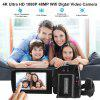 Camera Camcorder FLOUREON 4K Ultra-HD 48 Mega Pixels 3.0 Inch Capacitive LCD 270 Degrees Rotation With Touching Screen AP Mode WIFI 16x Digital Zoom Night Shot PC Web Camera EU - BLACK