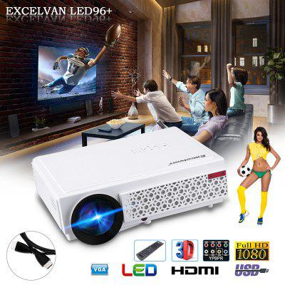 Excelvan 96+ natif 1280 * 800 support 1080p LED projecteur blanc UE PLUG