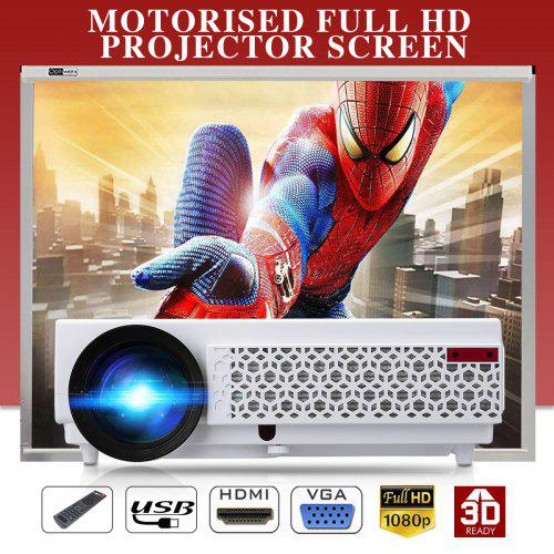 Excelvan 96+ Native 1280*800 support 1080p Led Projector White EU PLUG