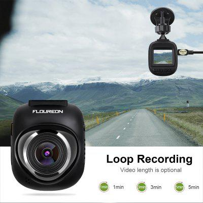 Dash cam, FLOUREON Full HD 1080P Mini Car Camera with 1.5 Inch Screen, 140° Wide Angle, G-sensor, Loop Recording, Motion Detection Car Recorder
