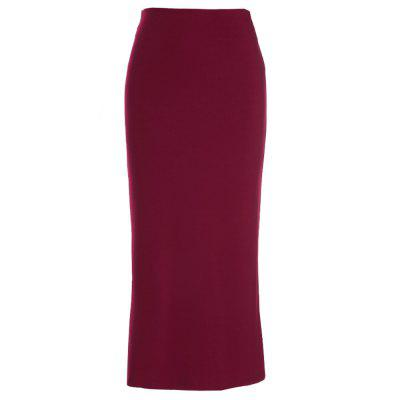 OL Candy Coloured Fashion Style Women Solid Elastic Waist Sexy Pencil Ankle-Length Long Beach Party Slim Flare Skirts