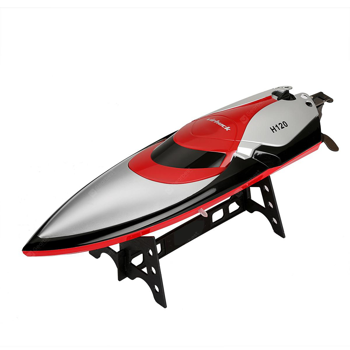 Virhuck H120 RC Boat Red LOVE RED