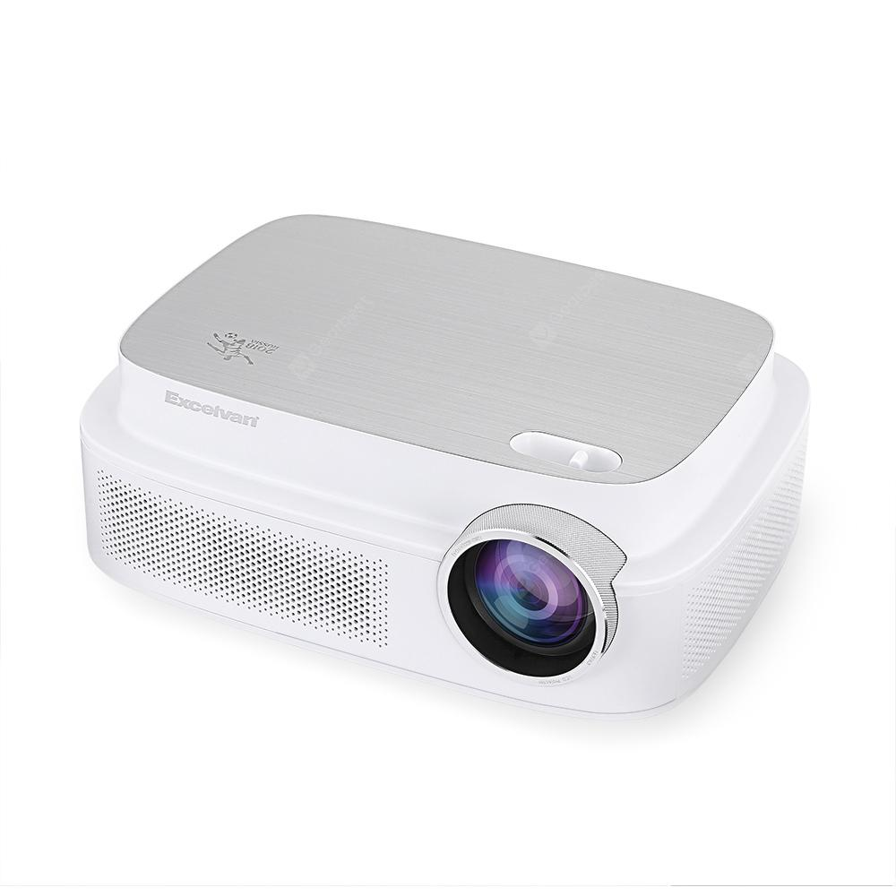 Excelvan Q7 World Cup Memorial Projector - WHITE EU