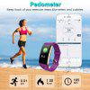 Diggro T20 Smart Sport Bracelet Fitness Tracker HD Color Screen Heart Rate Blood Pressure Blood Oxygen Monitor Fatigue Sleeping Monitor Call Message Reminder Remote Camera IP67 Waterproof for Android - PURPLE