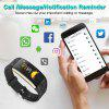 Diggro T20 Smart Sport Bracelet Fitness Tracker HD Color Screen Heart Rate Blood Pressure Blood Oxygen Monitor Fatigue Sleeping Monitor Call Message Reminder Remote Camera IP67 Waterproof for Android - BLACK