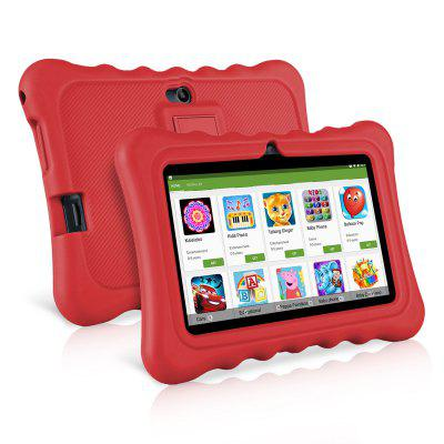 """Ainol Q88 Kids Android 7.1 OS Tablet 7"""" Display 1G RAM 8 GB ROM Light Weight Portable Kid-Proof Shock-Proof Silicone Case Kickstand Available With iWawa For Kids Education Entertainment --RED"""