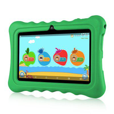 "Ainol Q88 Kids Android 7.1 OS Tablet 7"" Display 1G RAM 8 GB ROM Light Weight Portable Kid-Proof Shock-Proof Silicone Case Kickstand Available With iWawa For Kids Education Entertainment---Green"