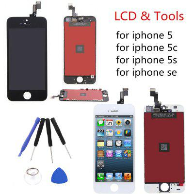 For iPhone 5 6 7 Plus Replacememnt LCD Screen Touch Digitizer Glass Len Assembly