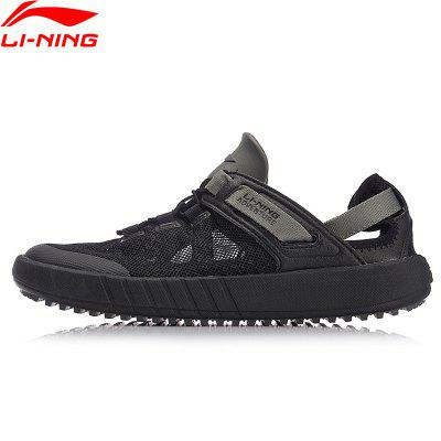 Li-Ning Mens Water Outdoor Aqua Shoes Breathable Wearable Beach Light Weight Water Sandals Sneakers AHLN001-3 rugged shark mens aquamesh3 water shoes